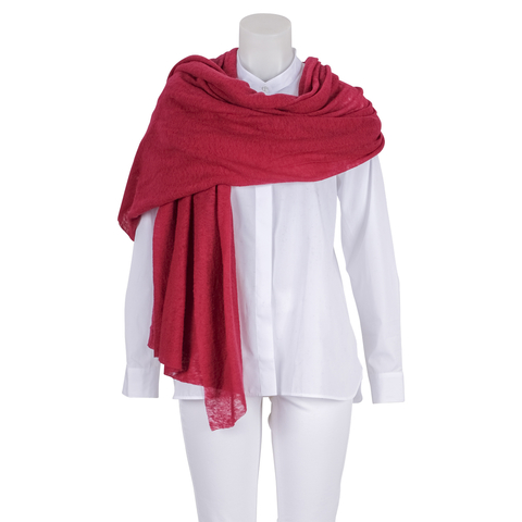 Pin1876 - by Botto Giuseppe - Cashmere-Schal rot