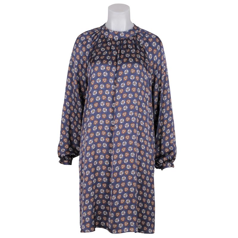 La camicia - Kleid floral blau/braun/weiß_ jdhein.de