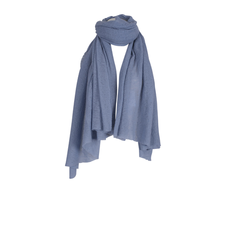 Pin1876 - by Botto Giuseppe - Cashmere-Schal hellblau
